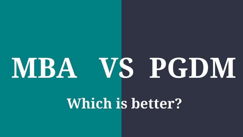 mba vs pgdm